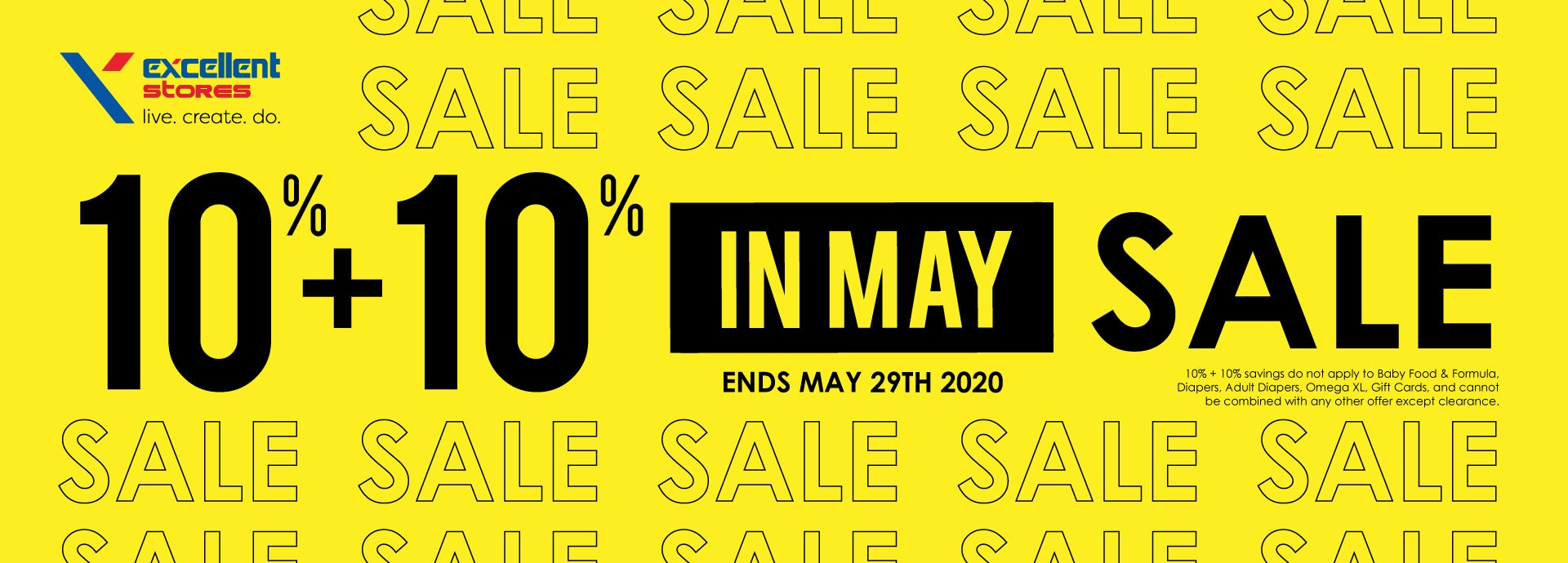 10+`10 Sale in May