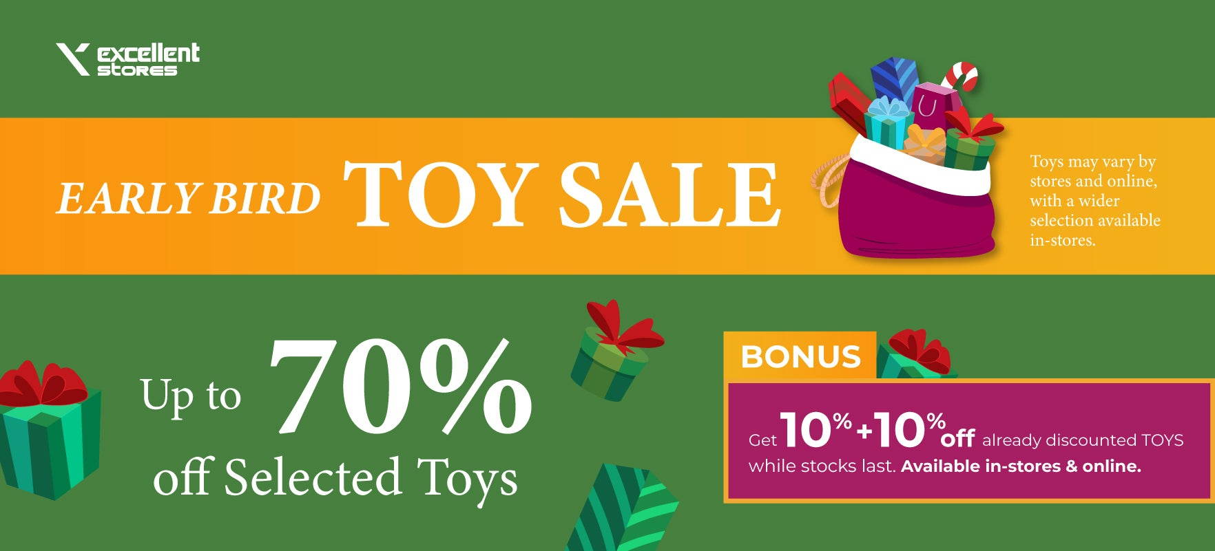 Early Bird Toy Sale!